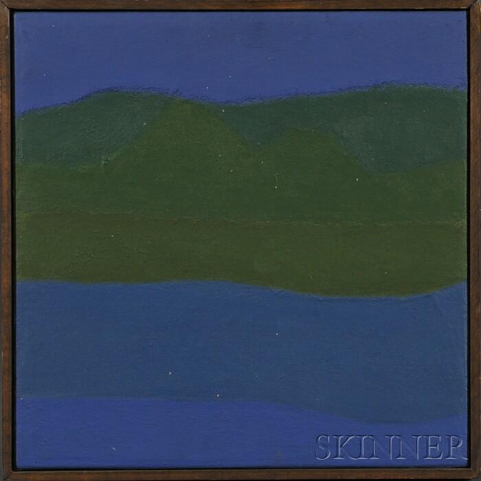 Reba Stewart  (American, 1930-1971)      River and Hills