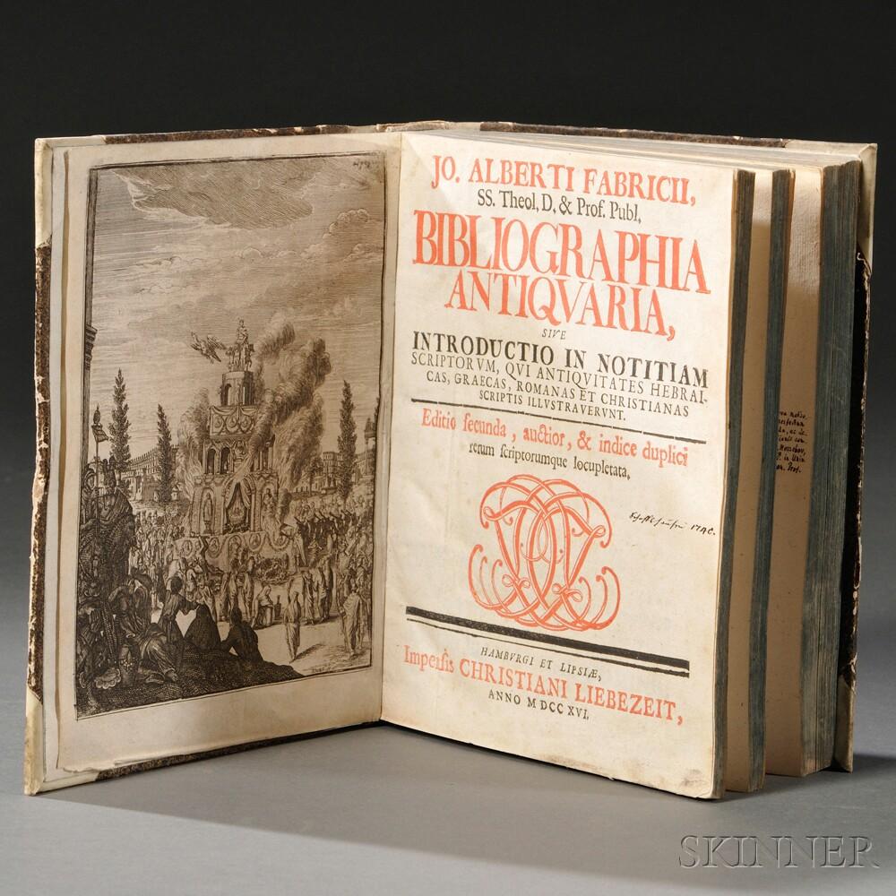 Fabricius, Johann Albert (1668-1736) Bibliographia AntiquariaFabricius...