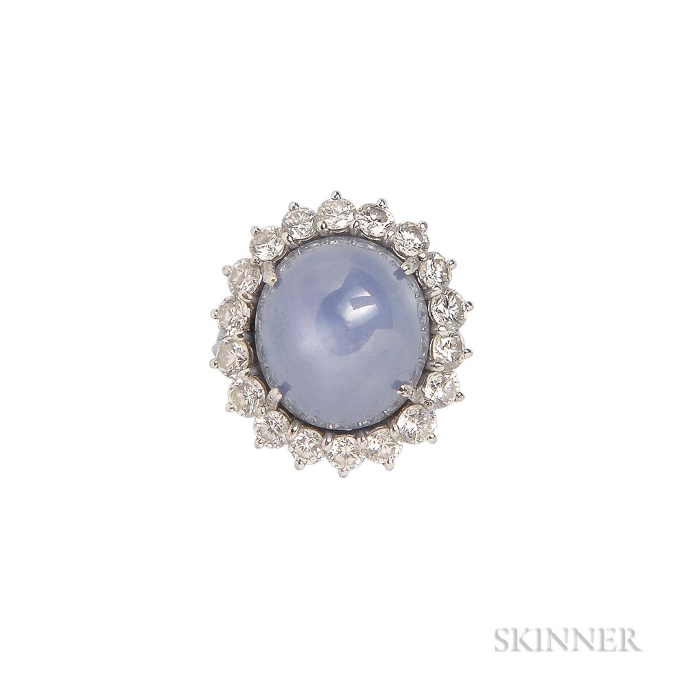 Platinum Star Sapphire And Diamond
