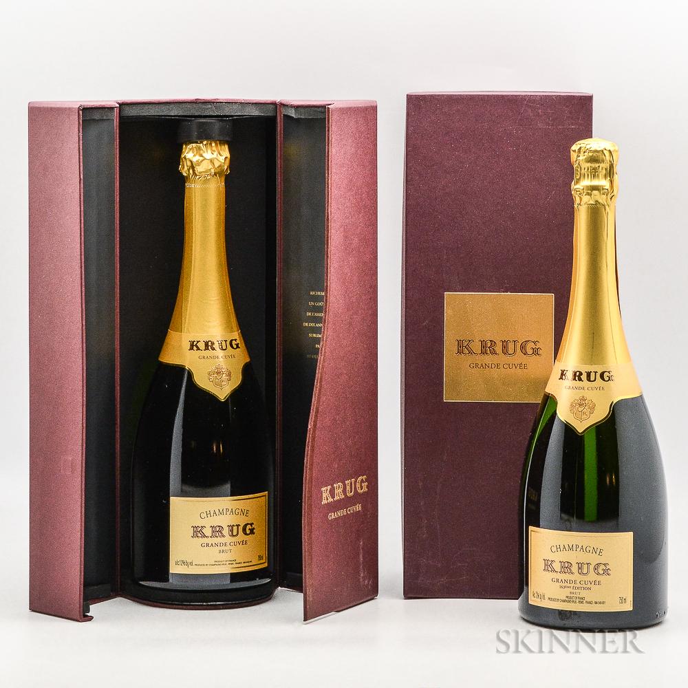 Krug Grande Cuvee NV, 2 bottles (ind. pc)
