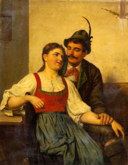 Edouard Kasparides (German, 1858-1926)    Courting