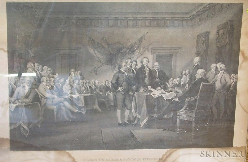 Framed Print of the Signing of the Declaration of Independence