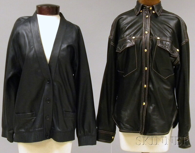 Two Lightweight Leather Jackets