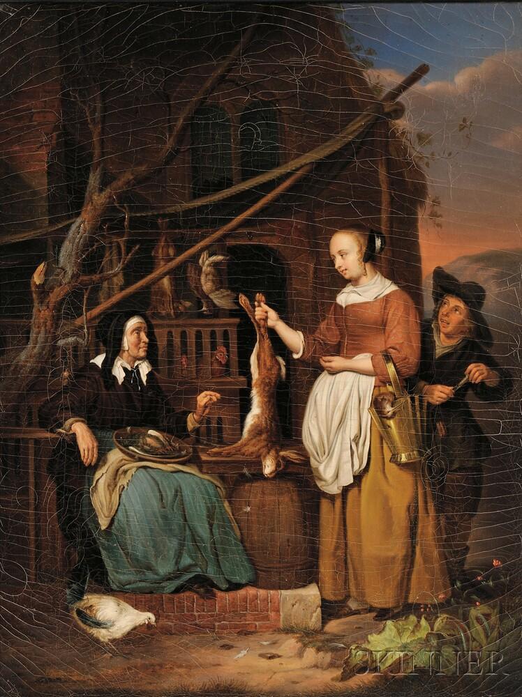 Dutch School, 19th Century      The Negotiation