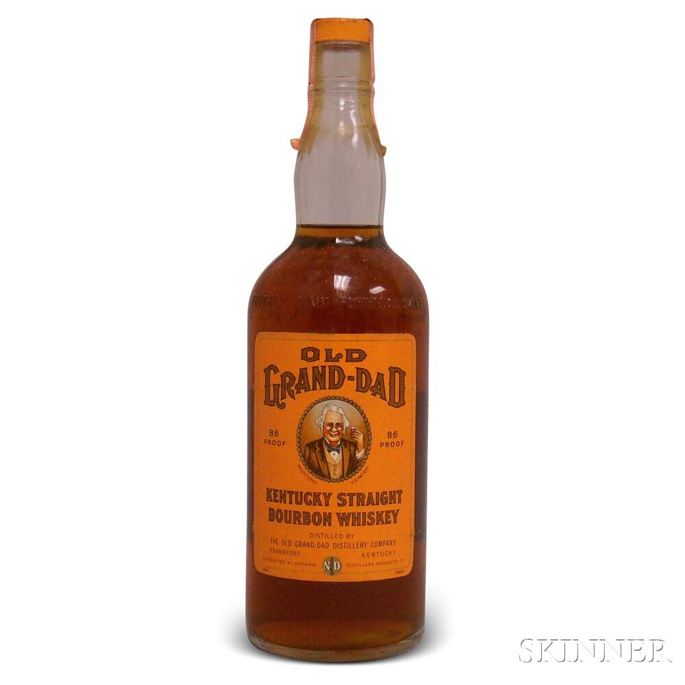 Old Grand Dad Kentucky Straight Bourbon Whiskey, 1 4/5 quart bottle