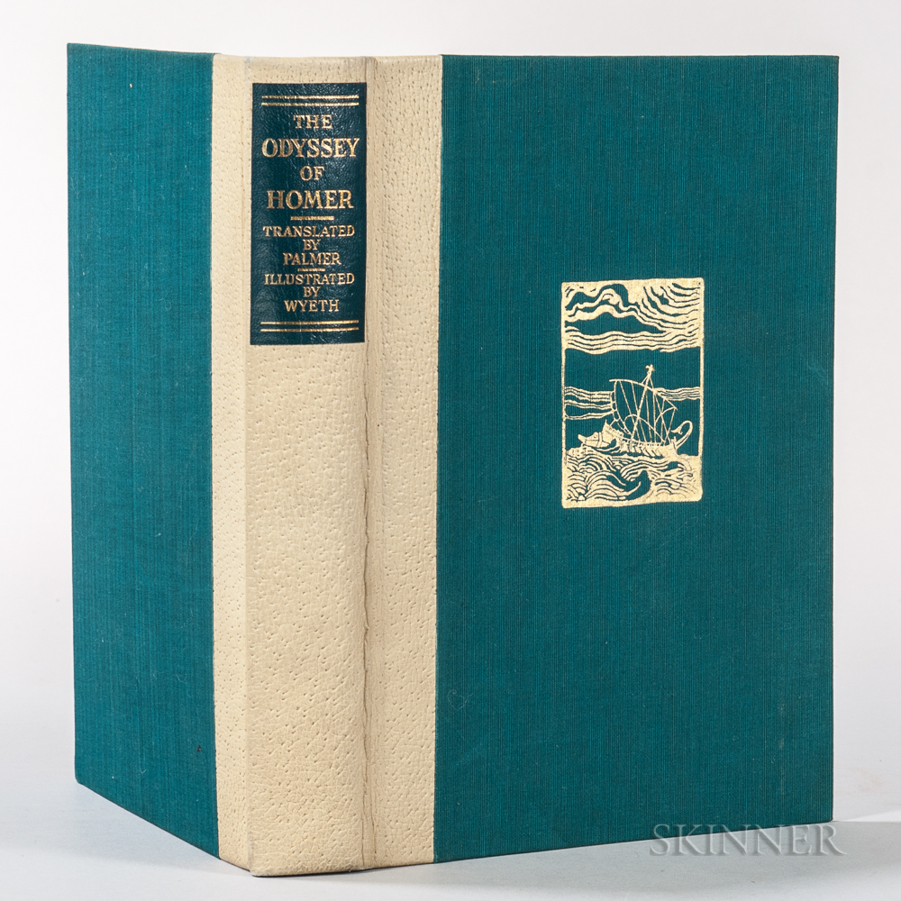 Homer. The Odyssey  , Illustrated and Signed by N.C. Wyeth.