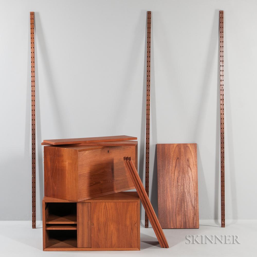 Poul Cadovius CADO Walnut Wall-mounted Desk and Shelves