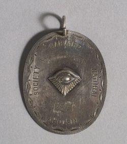 Engraved Harvard Natural History Society Silver Medallion