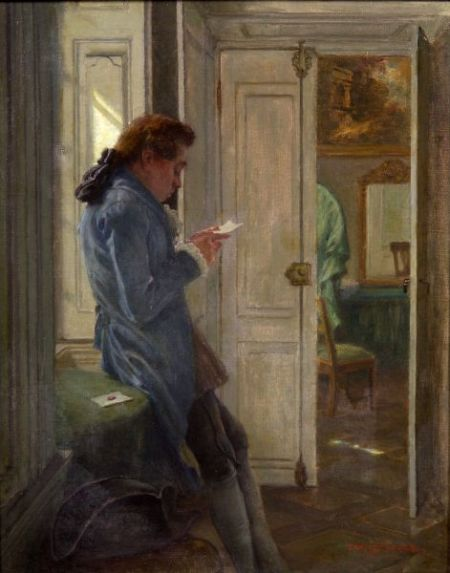 Claus Meyer (German, 1856-1919)    The Letter
