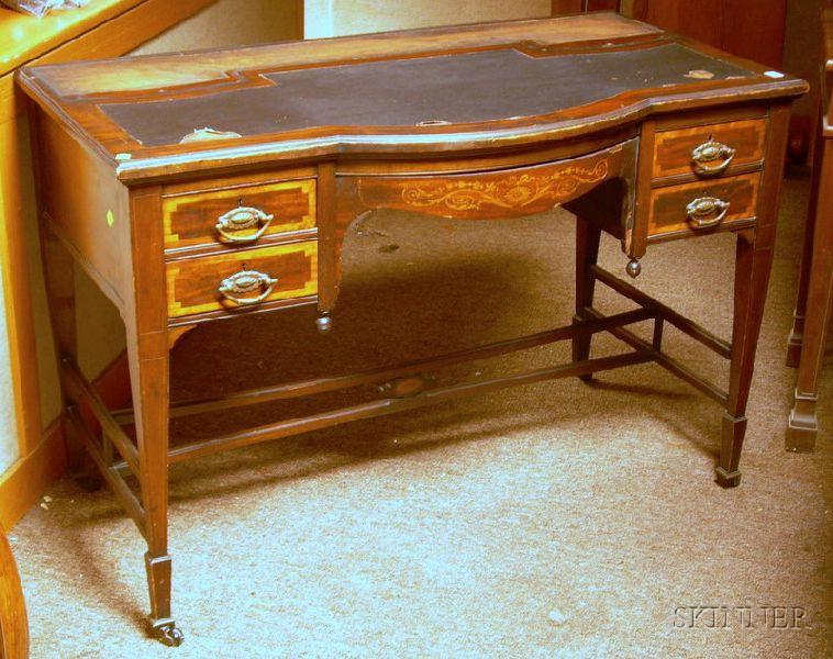 Edwardian Inlaid Mahogany Writing Desk