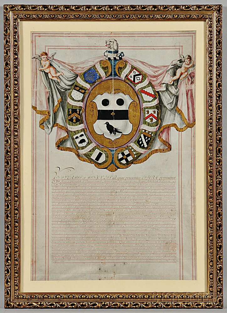 Presentation of Arms to Robert John Lee, London, 1694.