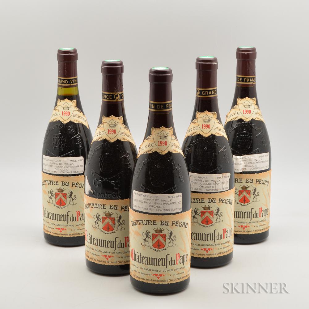 Pegau Chateauneuf du Pape Cuvee Reservee 1990, 5 bottles