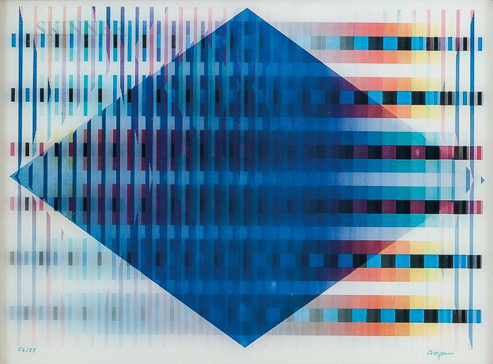 Yaacov (Jacob Gipstein) Agam (Israeli, b. 1928)      Two Works: Untitled