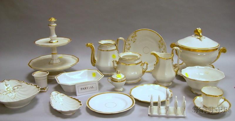 Approximately Seventy-eight Piece Assembled Group of Gilt Paris Porcelain Tableware.