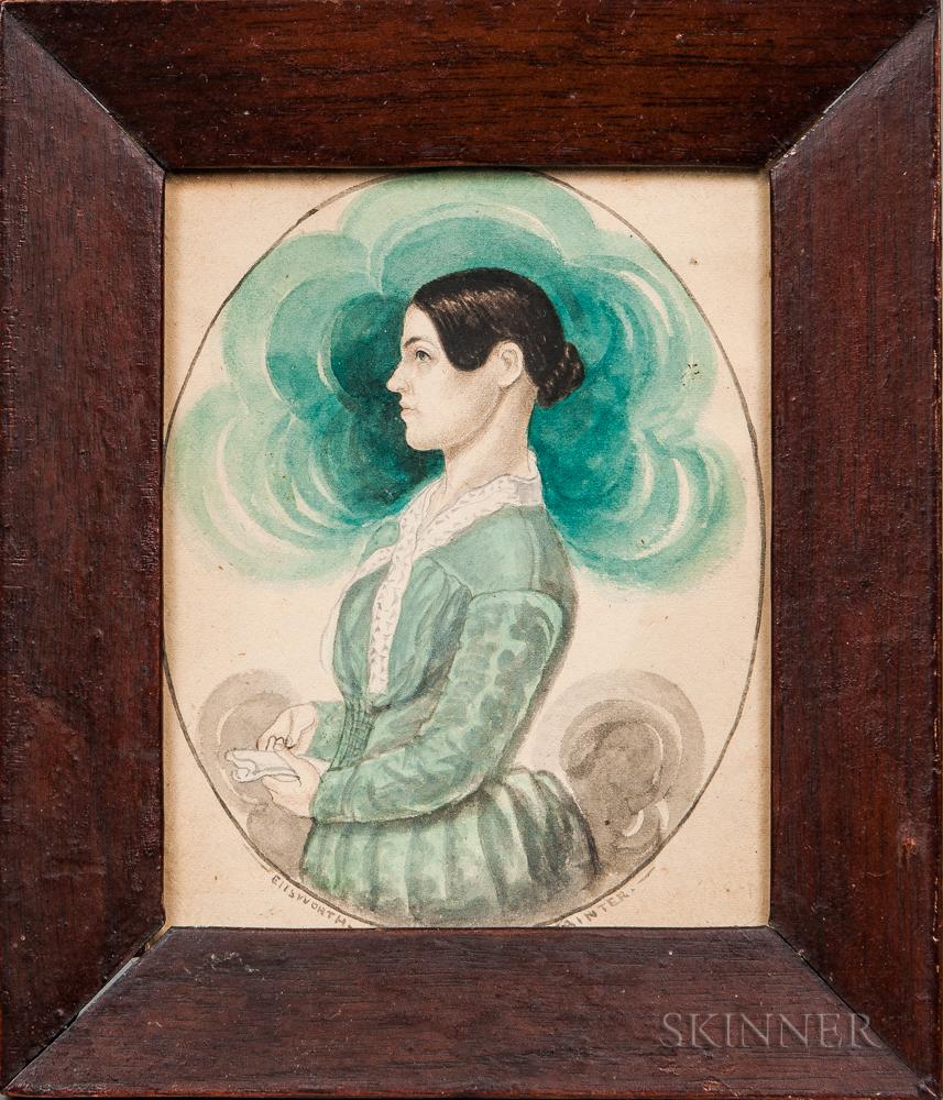 James Sanford Ellsworth (American, 1802/03-1874)      Portrait of Calista Howard