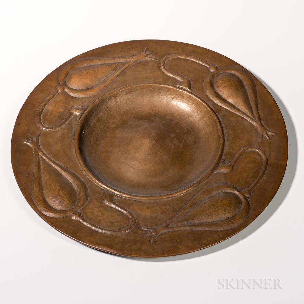 Gustav Stickley Copper Charger