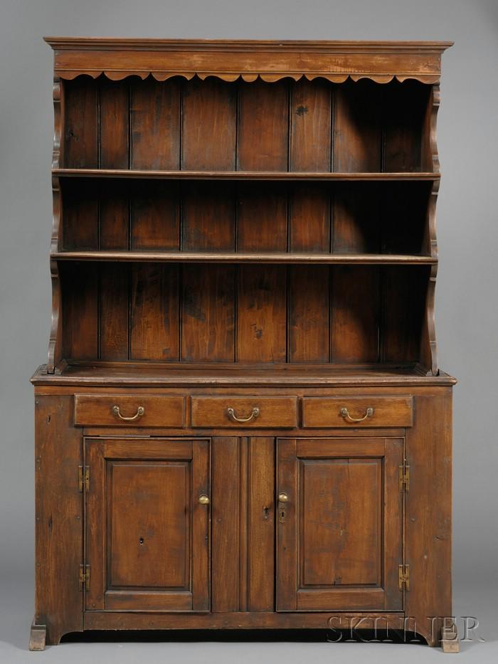 Walnut Step-back Open Cupboard