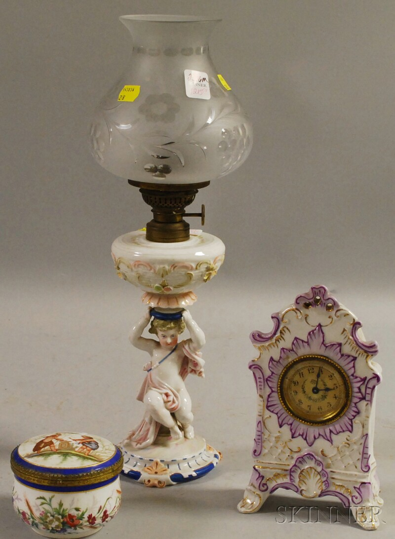 Three European Porcelain Table Articles