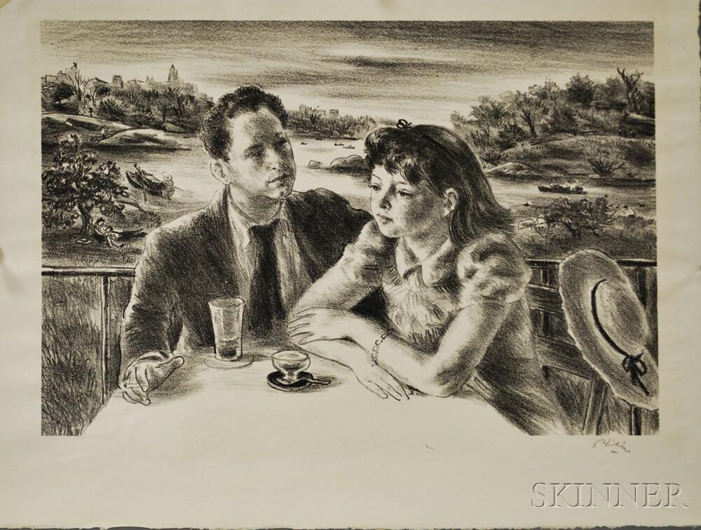 Robert Philipp (American, 1895-1981) Figural Lithograph