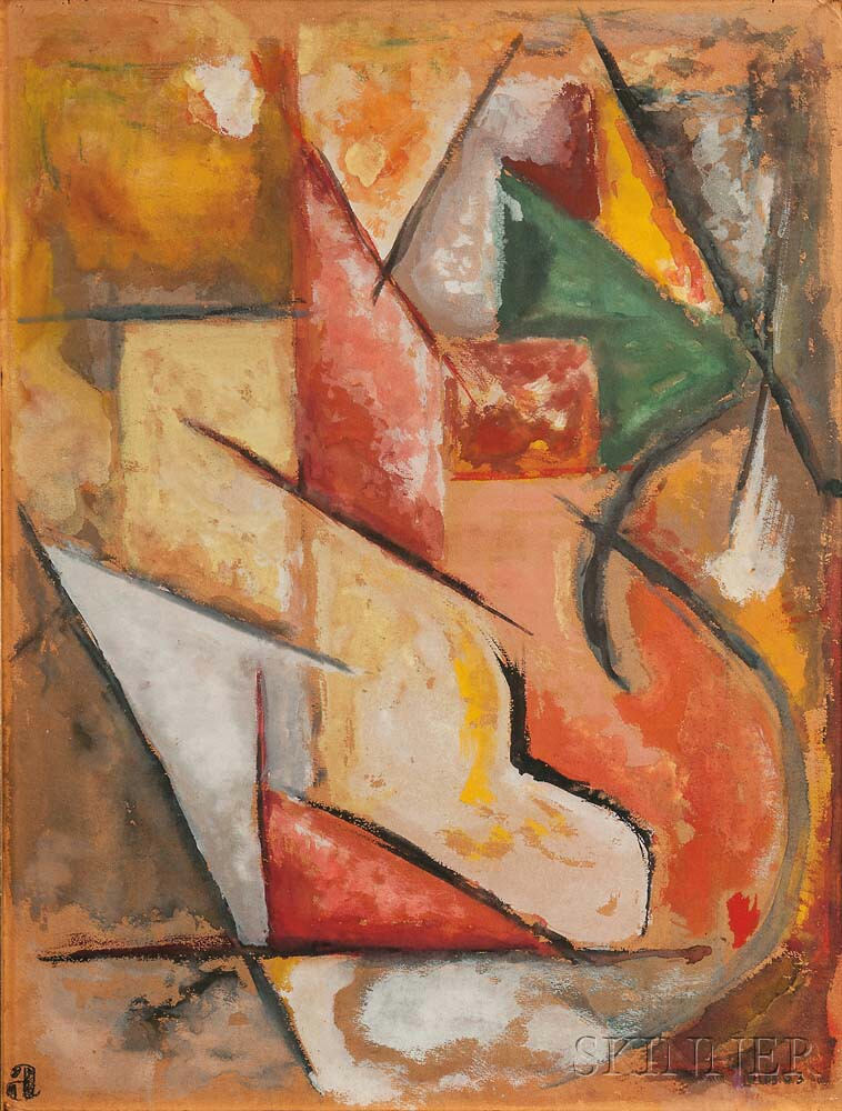 Paul Nabb (American, fl. circa 1953)      Abstract Composition