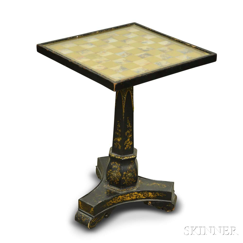 George IV Lacquered Games Table