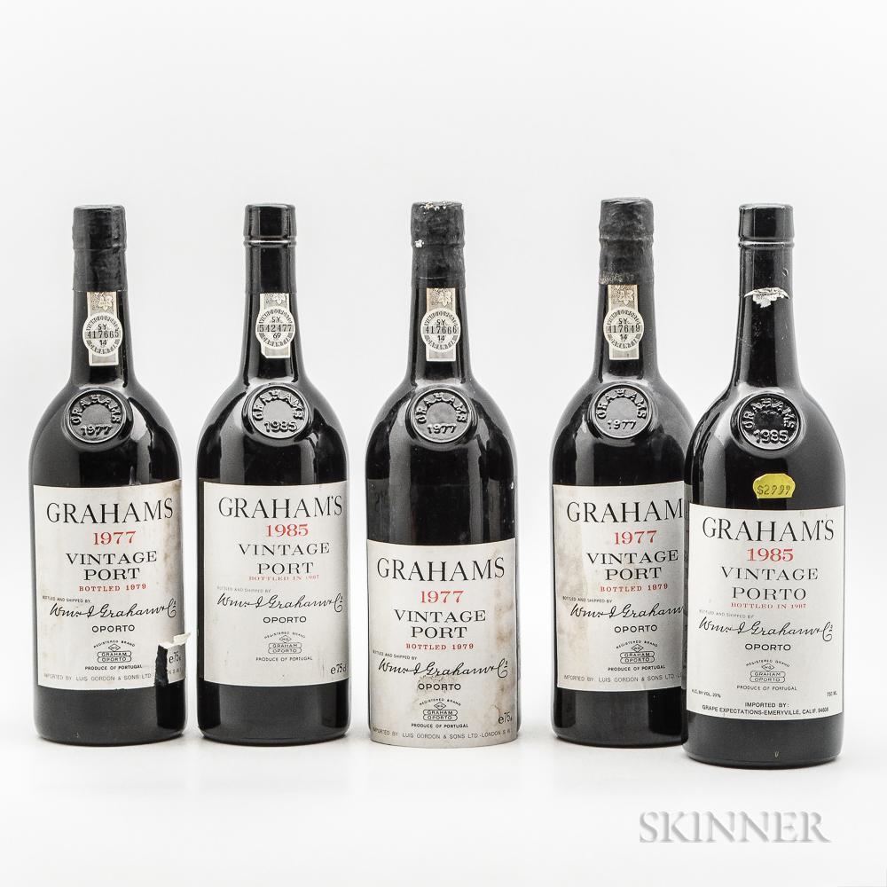 Grahams Vintage Port, 5 bottles