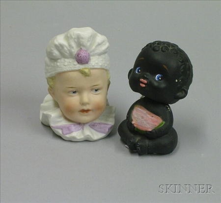 Two Bisque Figurals