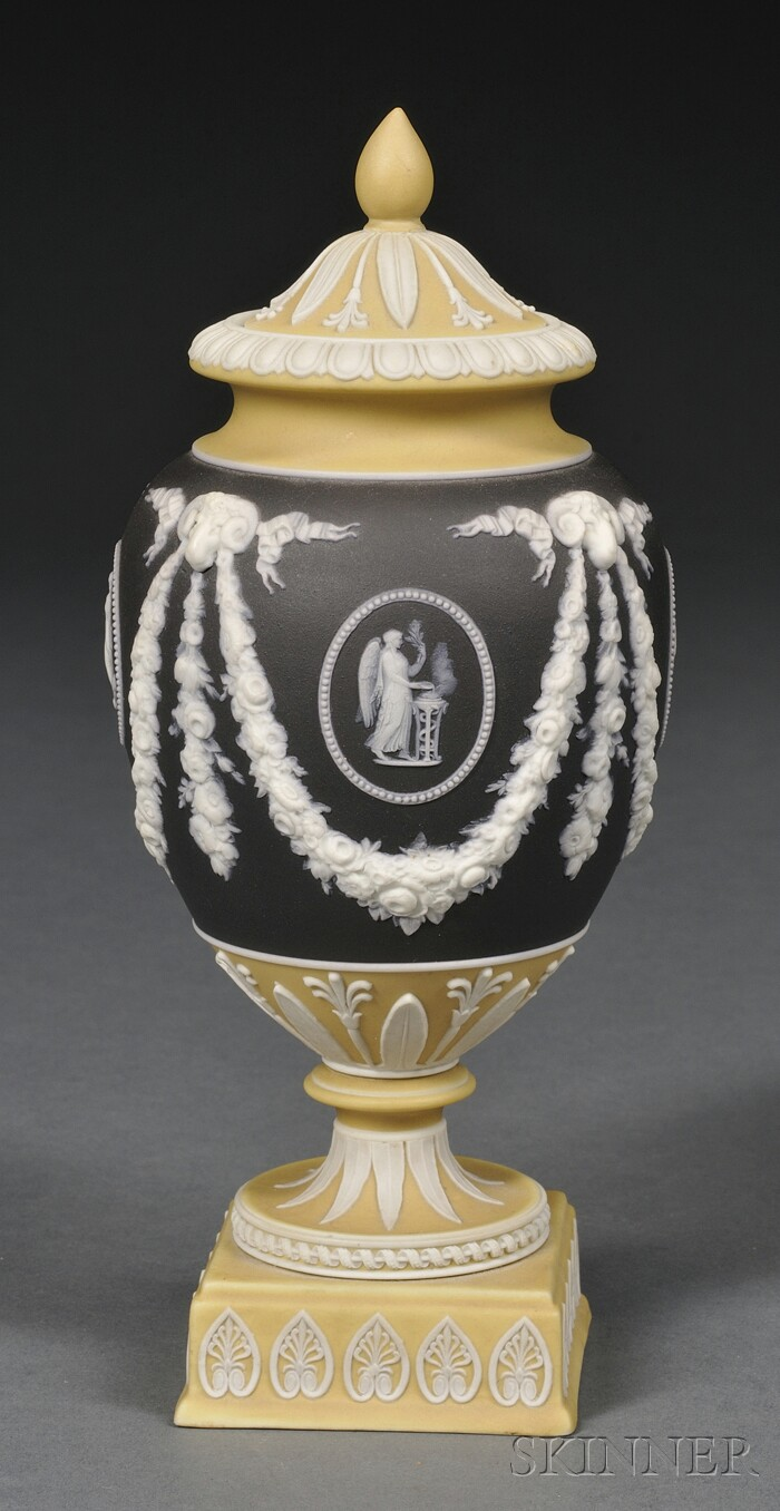 Wedgwood Three-color Jasper Dip Vase and Cover