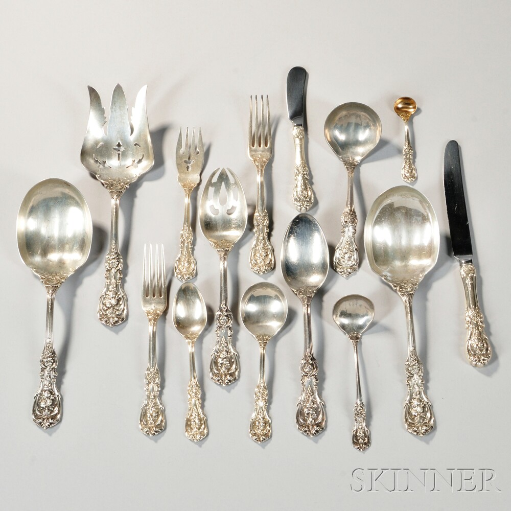 "Auctions In My Area >> Reed & Barton ""Francis I"" Pattern Sterling Silver Flatware Service 