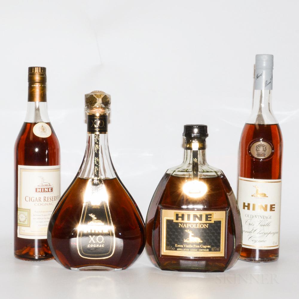Hine, 4 bottles (oc)
