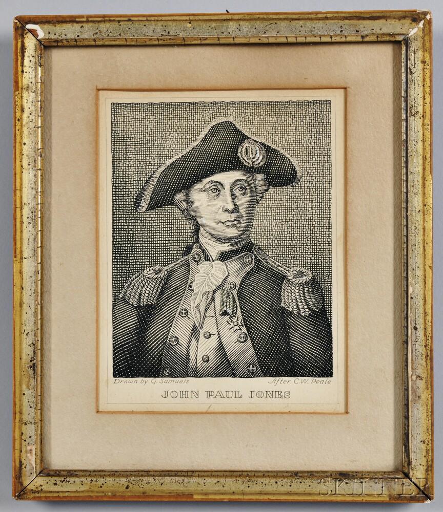 """""""JOHN PAUL JONES"""" Engraved Portrait"""