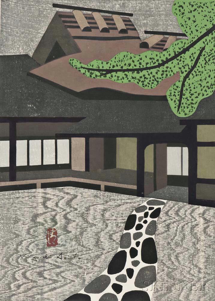 Kiyoshi Saito (Japanese, 1907-1992)      Shisen-do, Kyoto