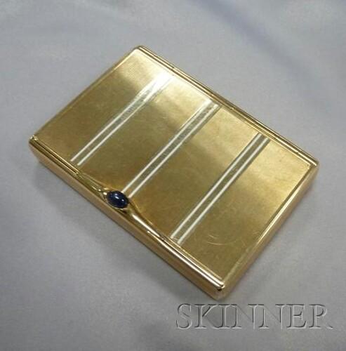 Art Deco 14kt Gold and Enamel Box