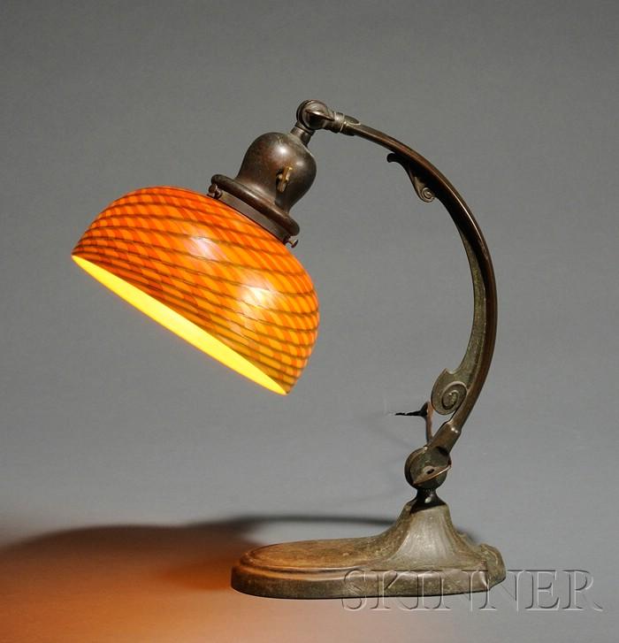 Handel Lamp with Quezal Shade