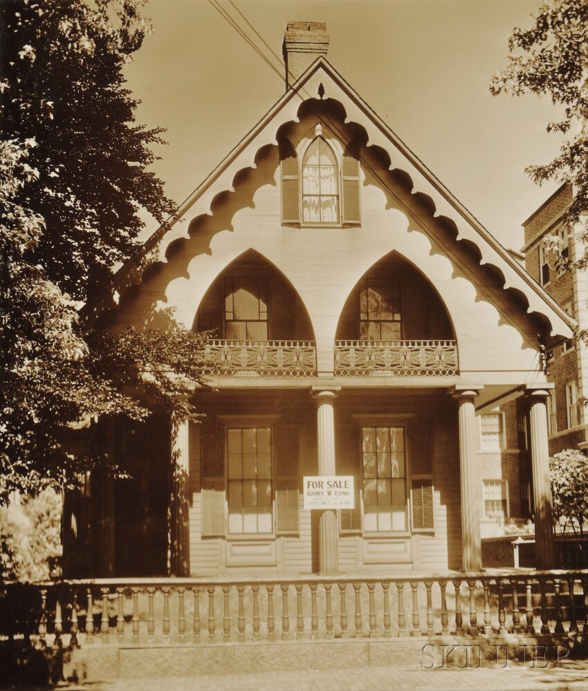 Walker evans american 1903 1975 wooden gothic revival for Gothic revival home