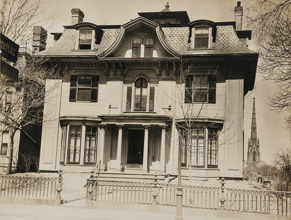 Walker Evans (American, 1903 1975) Second Empire House With Bell Shaped  Dormer In Pediment, Cambridge, ...