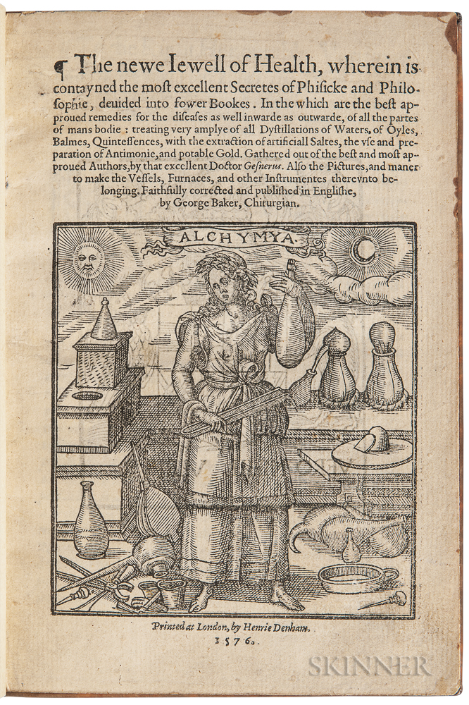 Gesner, Conrad (1516-1565) The Newe Iewell of Health, wherein is Contayned the Most Excellent Secretes of Phisicke and Philosophie, Dev