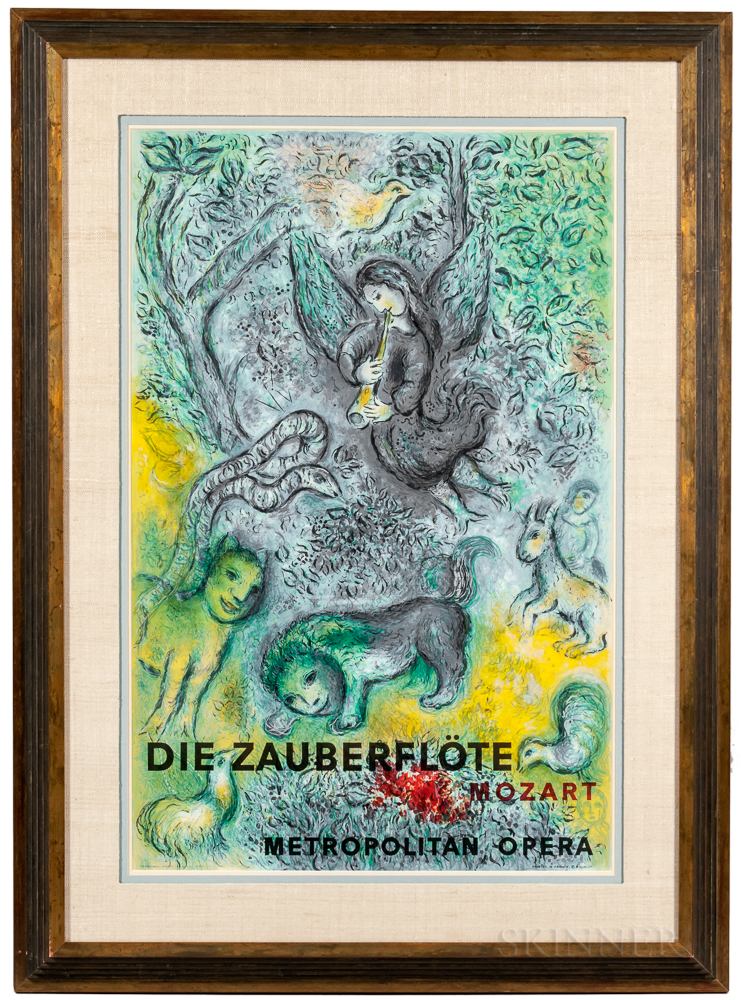 After Marc Chagall (Russian/French, 1887-1985)      Die Zauberflöte, Mozart, Metropolitan Opera