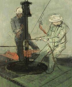 Joe Jones (American, 1909-1963)  Under Construction