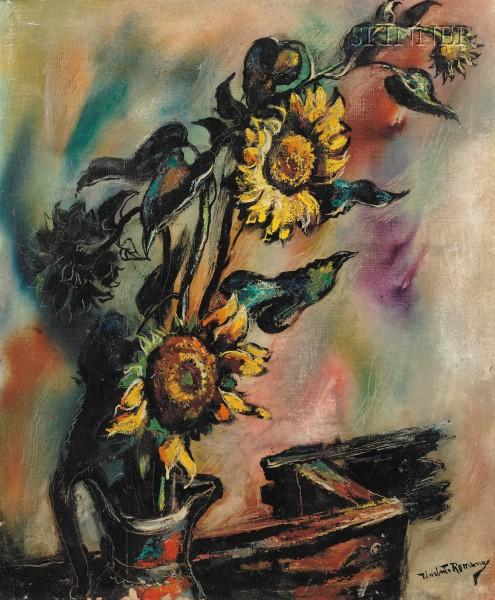 Umberto Roberto Romano (American, 1905-1984)      Morning Comes to Sunflowers