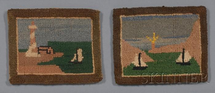 Three Small Framed Grenfell Hooked Mats
