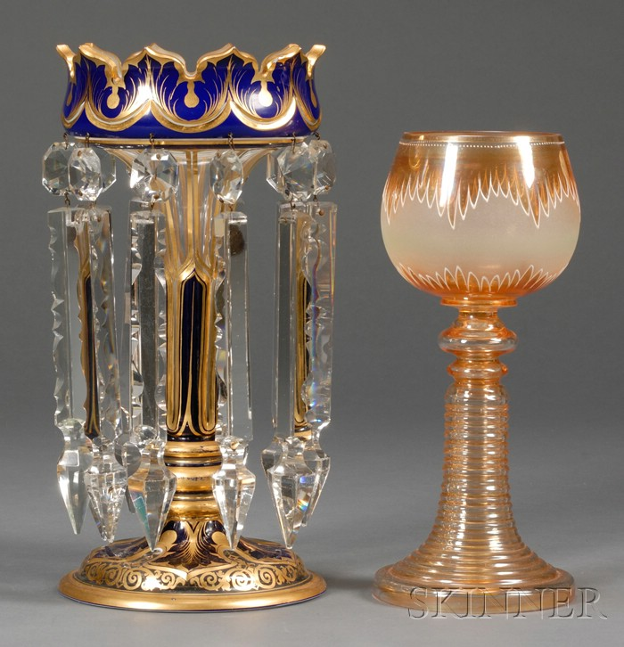 Two Continental Glass Articles