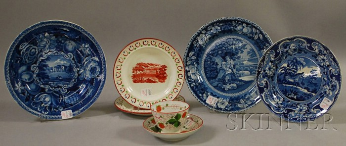 Seven Pieces of English Staffordshire