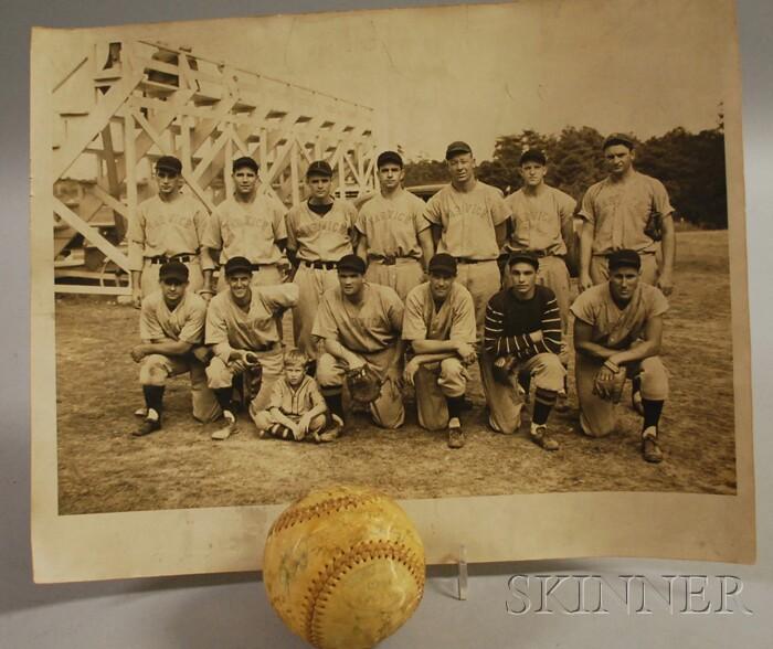 Harwich Cape Cod Baseball League Team Photograph and an Autographed Baseball