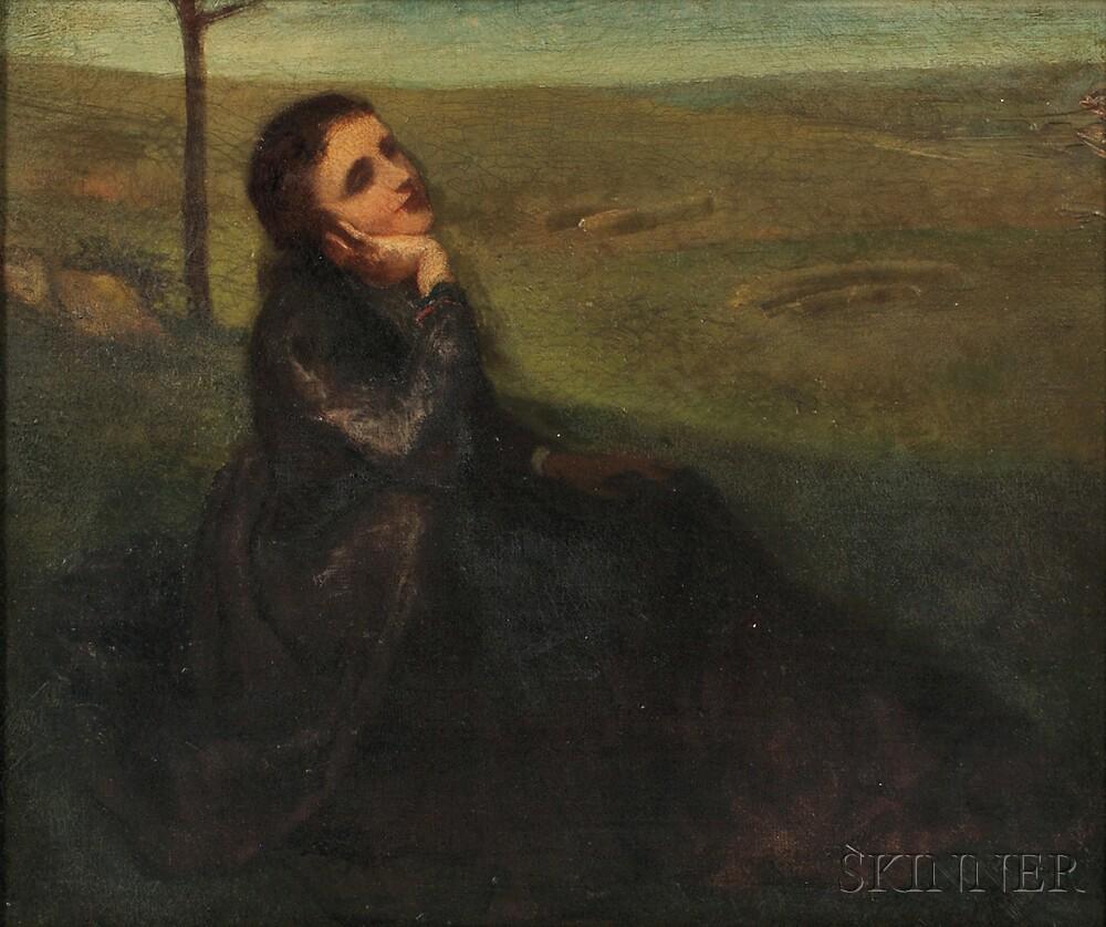 John La Farge (American, 1835-1910) A Quiet ReverieJohn La Farge (American...