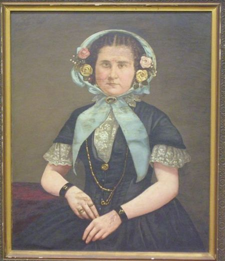 Framed Oil on Canvas Portrait of a Woman