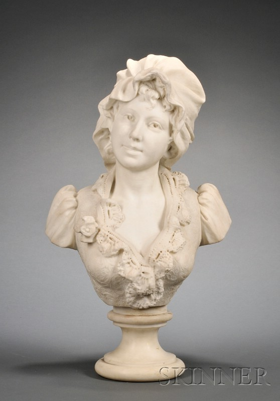 Carrara Marble Bust of a Maiden