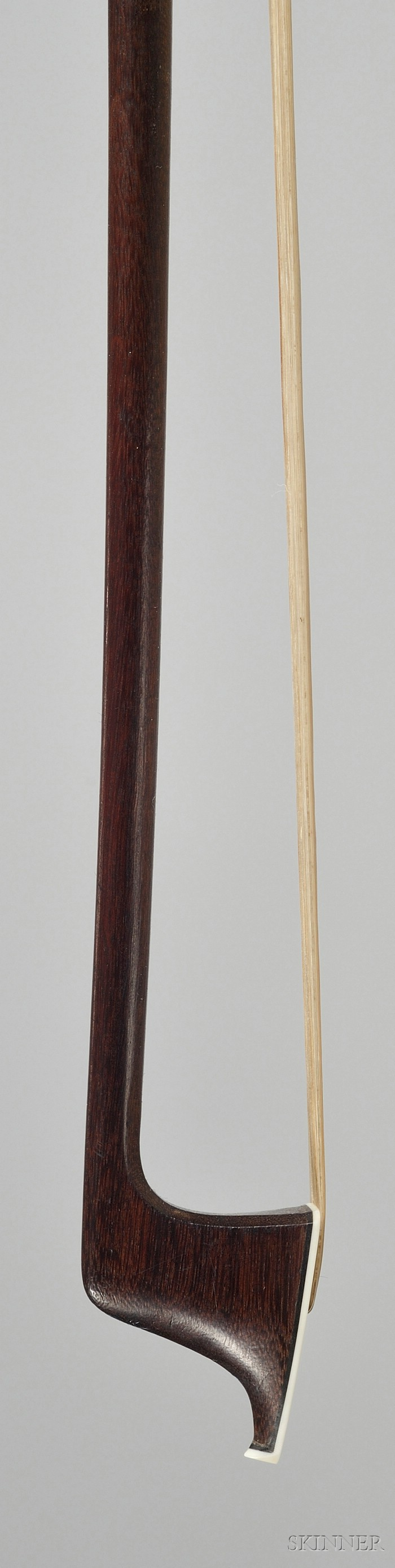 French Silver Mounted Violin Bow, Etienne Pajeot, c. 1835