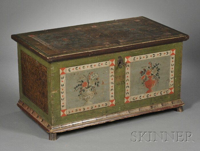 Continental Painted Pine Trunk