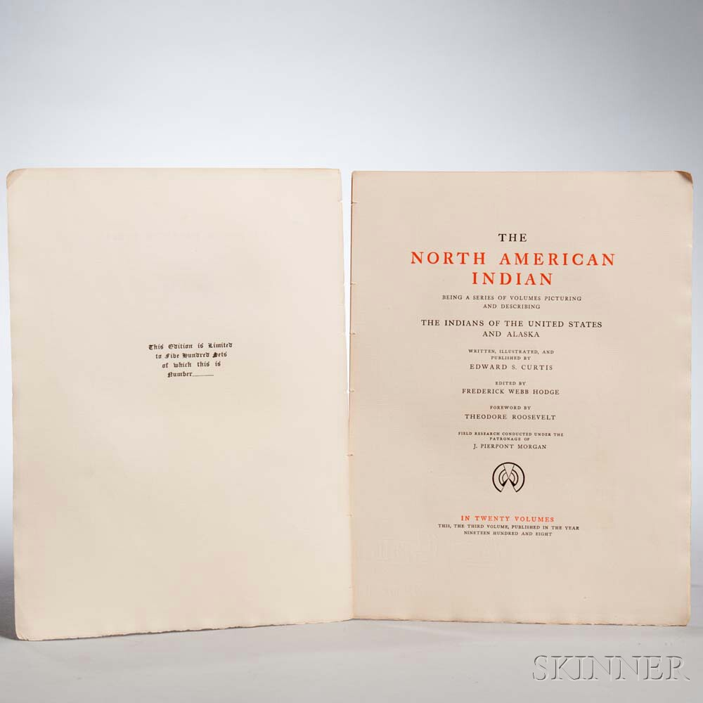 Curtis, Edward Sheriff (1868-1952) The North American Indian,   Volume III, The Teton Sioux.